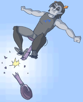 Equius Learning to Ride a Unicycle by 2ndLtHavoc