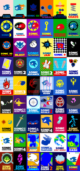 Sonic Game Cards 1991 - 2016 by Sonicguru