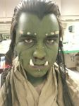 Orc makeup with prosthetics by Bozers