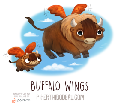 Daily Paint 1593. Buffalo Wings by Cryptid-Creations