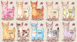 Alpaca Auction Adopts [closed] by melonycreations