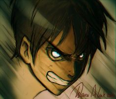 angry Eren by Kaizoku-hime