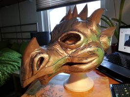 Dragon Mask WIP by Thoaee