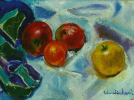 Still Life with Apples by sandreezy