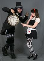 Dark alice and Mad hatter by MajesticStock