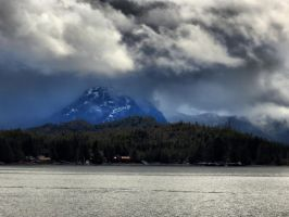Annette Island in the clouds by Glacierman54