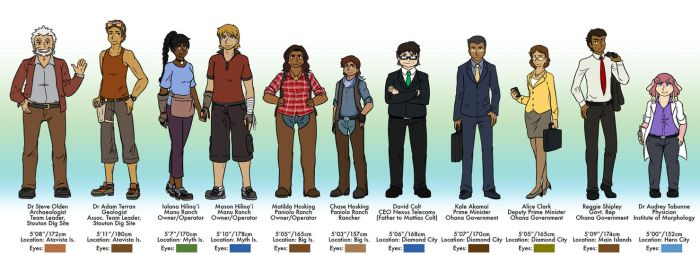 BFOI Y3 Side Characters Ref by tazsaints