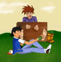 request: gary tickled/worhiped in stocks by alan-underfoot