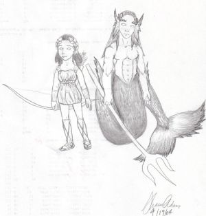 Mythology Artemis and Poseidon