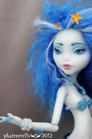 Hanon Monster High repaint custom Lagoona portrait by phairee004