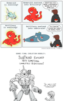 Evolving is super serious stuff! by camac