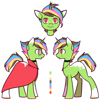 RainbowStreak official reference sheet by DiddleDoodles