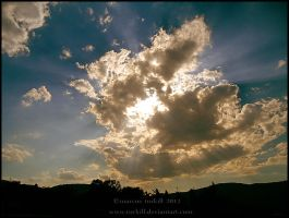 Sky at sunset by turkill