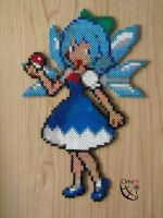 Cirno Trainer perler beads by Cimenord