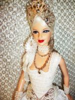 White Queen barbie Doll Alice by dakotassong