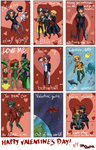 DC Valentine's Day Cards by DaPandaBanda