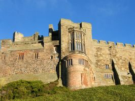 Bamburgh Castle Background stock 3 by Queenselphie