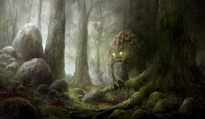 lurking behind the tree by yonaz