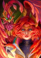 League of Legends : Phoenix Qinn! by Philiera