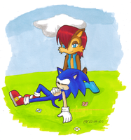 Sonic and Sally by Tikalie-Wolf