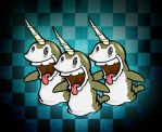 Narwhals :D by Bogdanowicz