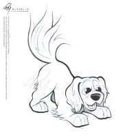 Cavalier Spaniel Caricature Sketch 2 by timmcfarlin