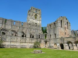 Fountains Abbey Stock 3 by Queenselphie