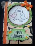 Handmade/Painted Cute Ghost Family Halloween Card by PossumPip-Creations