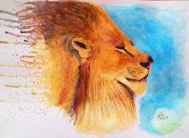 Thoughtful Lion by DonataC