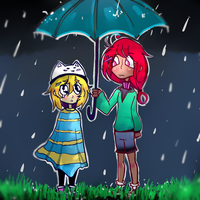It's raining... by oceansigh