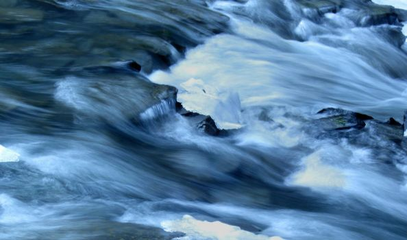 Taughannock Falls, Waterfall River - Rushing Water by Xombiecats