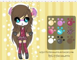 Mia the Bear ADOPTABLE CLOSED by LittleChewrrie