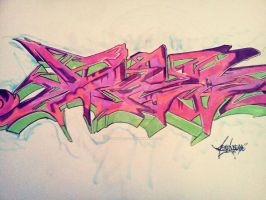 Graffiti Sketch by RiotRhythms