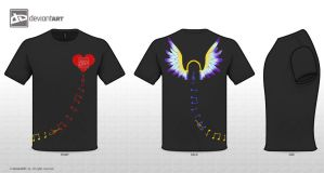 Musically Inspired T-Shirt Design Challenge 02 by The-DeathAngel