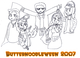 Butternoodleween 2007 lines by JinjoJess