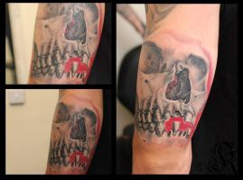 sleeve in progress by Janis by HammersmithTattoo