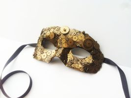 steampunk clockwork mask by richardsymonsart