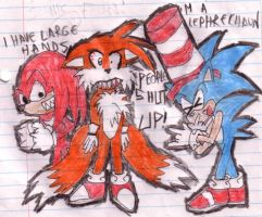 oh, those SONIC FANS... by tails-sama