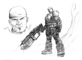 gears of war drawing by xiconhoca