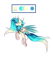Sweet pegasus adoptable (closed) by Lumicorn