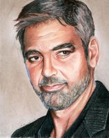 George Clooney in Pastel by Chicken-Priestess