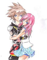 Sora and Kairi by AzureBladeXIII
