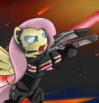 Commander Fluttershy by TheParagon