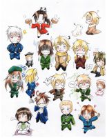 Axis Powers Hetalia -Chibi- by Hayato-kun