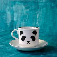 Squeeably cute Panda Tea Cup plus Saucer by geekdetails