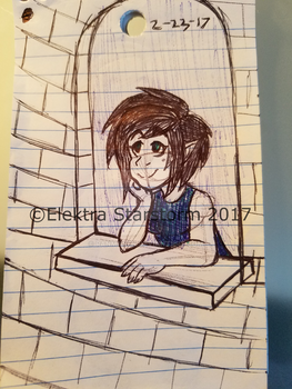 Work Doodle 9: Window View by ElektraStarstorm