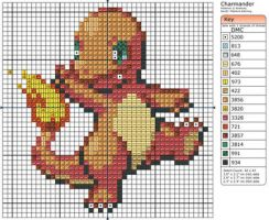 4 - Charmander III by Makibird-Stitching
