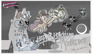 StA wishes you Happy Holidays from Moonstuck! by alskylark