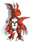 Guilmon-Digital Monster * by XSol-StudiosX