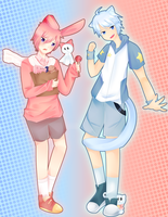 [Contest] Rurumie + Pekobell by Shalambay-Shift